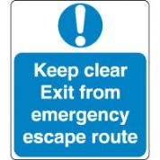 Mandatory Safety Sign - Keep Clear Exit 088